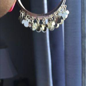 Jewelry - Disney Silver Tone Hoop Earrings